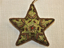 Load image into Gallery viewer, Embroidered Green Satin Star