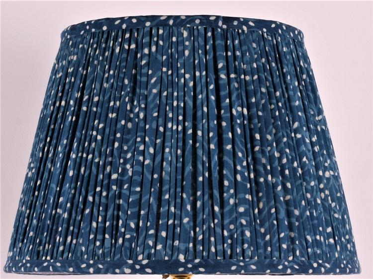 Indigo Spot Cotton Lampshade