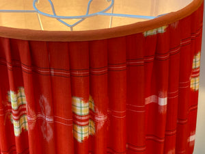 Red and Orange Kimono Drum Lampshade