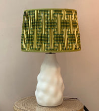 Load image into Gallery viewer, Emerald Kimono Drum Lampshade