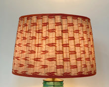 Load image into Gallery viewer, Terracotta Ikat Kimono Drum Lampshade