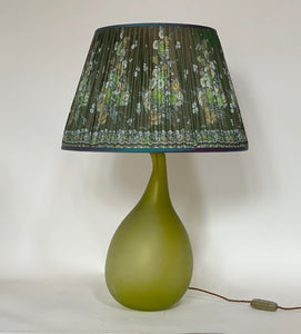 Shot green floral silk saree Silk Lampshade
