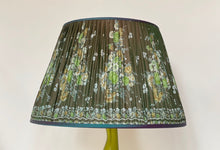 Load image into Gallery viewer, Shot green floral silk saree Silk Lampshade