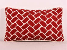 Load image into Gallery viewer, Red And Cream Kashmiri Crewel Cushion