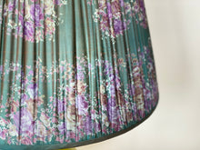 Load image into Gallery viewer, Shot peacock floral saree Silk Lampshade
