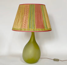 Load image into Gallery viewer, Yellow pink and green Silk Lampshade
