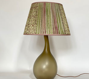 Cream lilac and eau de nil silk lampshade