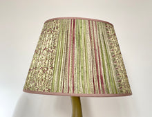 Load image into Gallery viewer, Cream lilac and eau de nil silk lampshade