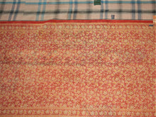 Load image into Gallery viewer, Aubergine Pink And Ochre Kantha Quilt KA44