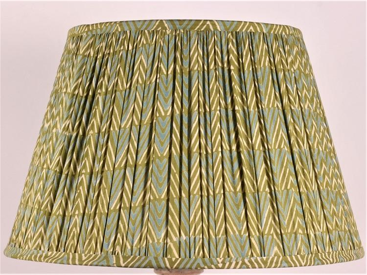 Blue and Green Chevron Cotton Lampshade