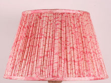 Load image into Gallery viewer, Shibori Pink Marari Silk Lampshade