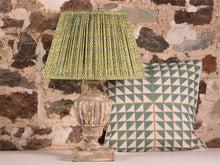 Load image into Gallery viewer, Blue and Green Chevron Cotton Lampshade