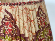 Load image into Gallery viewer, Red and ox blood batik silk lampshade