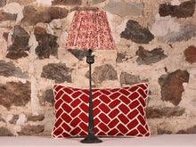 Load image into Gallery viewer, Pink Red Aubergine And Cream Silk Lampshade