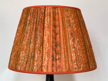 Load image into Gallery viewer, Orange and green marble Silk Lampshade