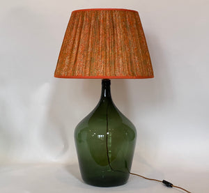 Orange and green marble silk lampshade