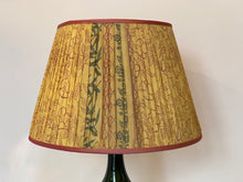 Load image into Gallery viewer, Yellow and pink silk lampshade