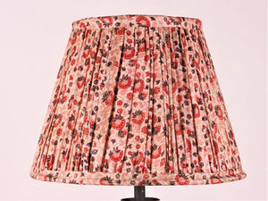 Pink Red Aubergine And Cream Silk Lampshade