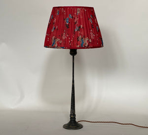 Cherry red and blue floral Silk Lampshade