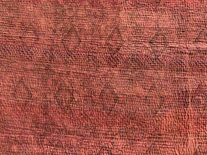 Rust red kantha