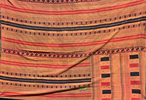 Orange and red kantha