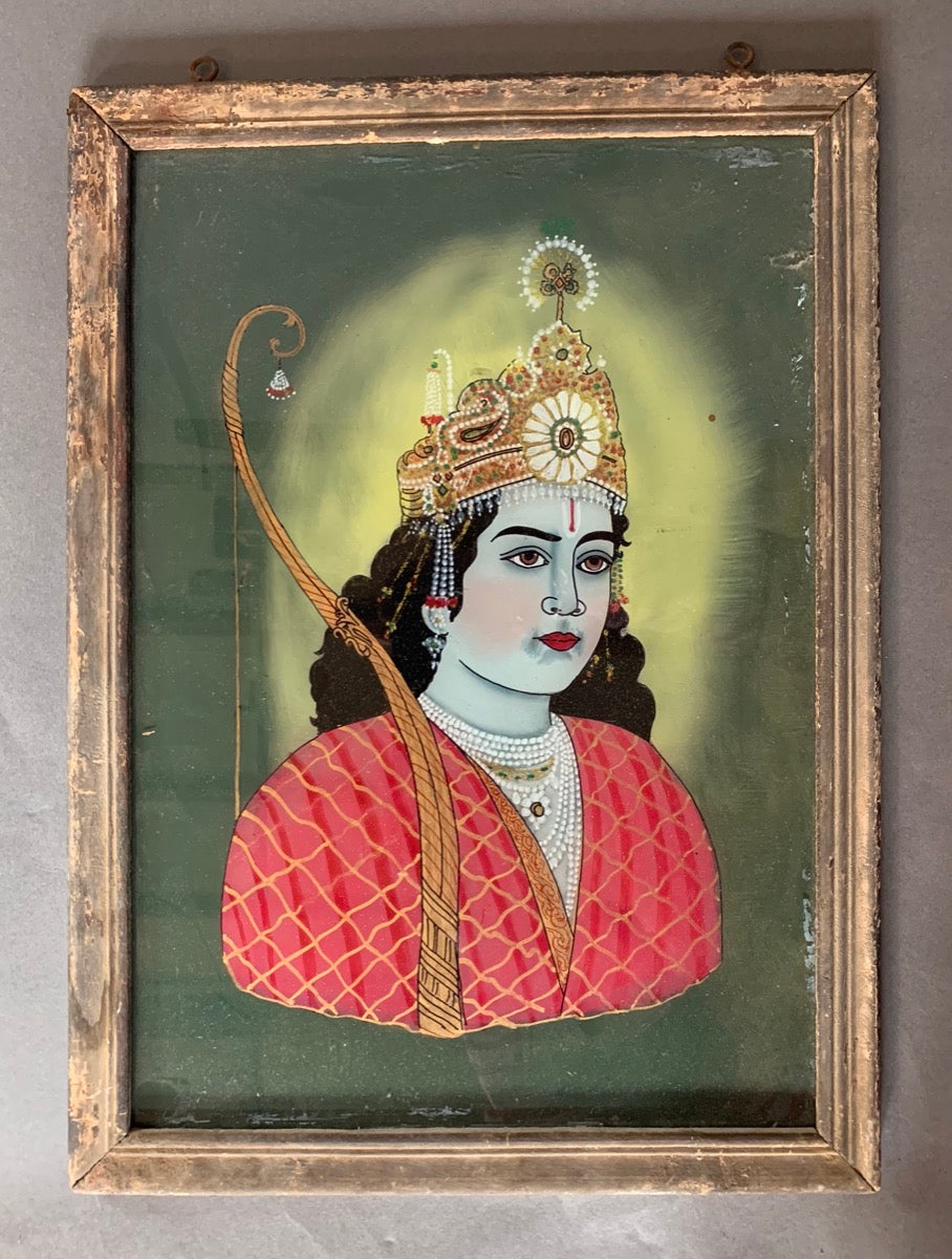 Large Indian Faces Glass Painting