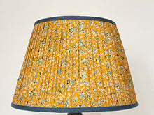 Load image into Gallery viewer, Yellow liberty type print silk lampshade