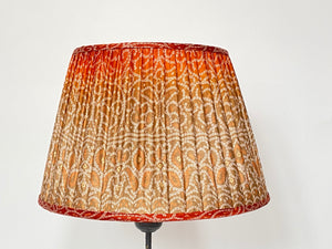 Toffee and burnt orange bandari silk lampshade