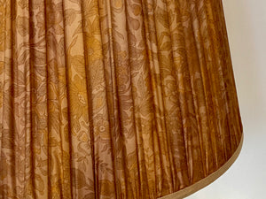 Ginger and ochre silk Lampshade