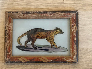 Leopard Glass Painting