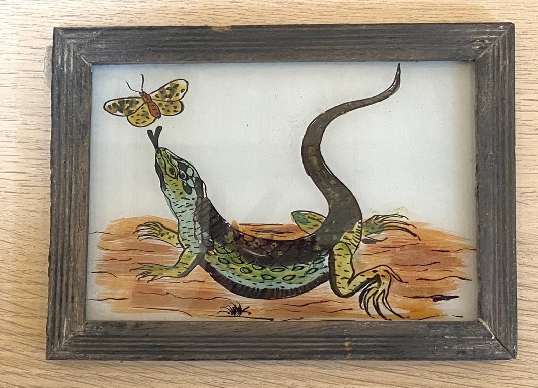 Lizard Glass Painting