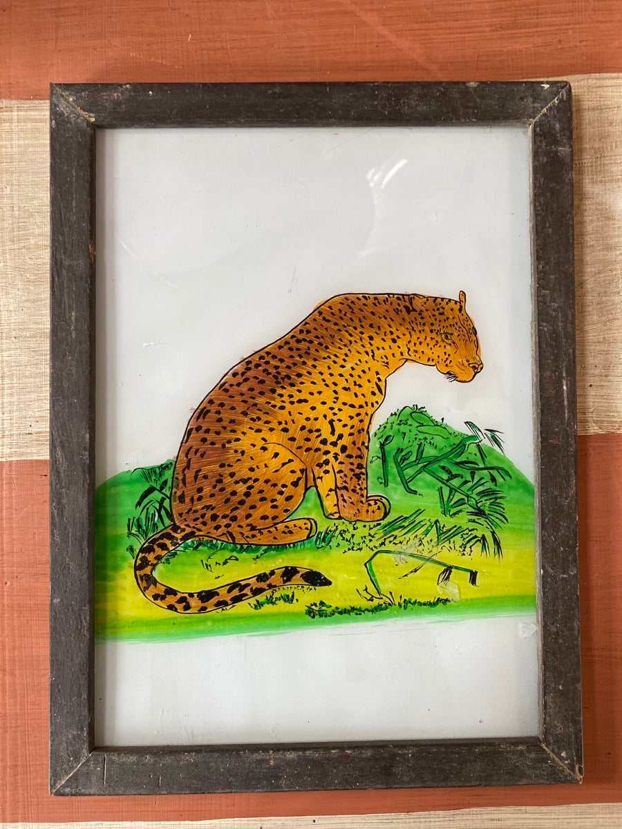 Leopard Large Glass Painting