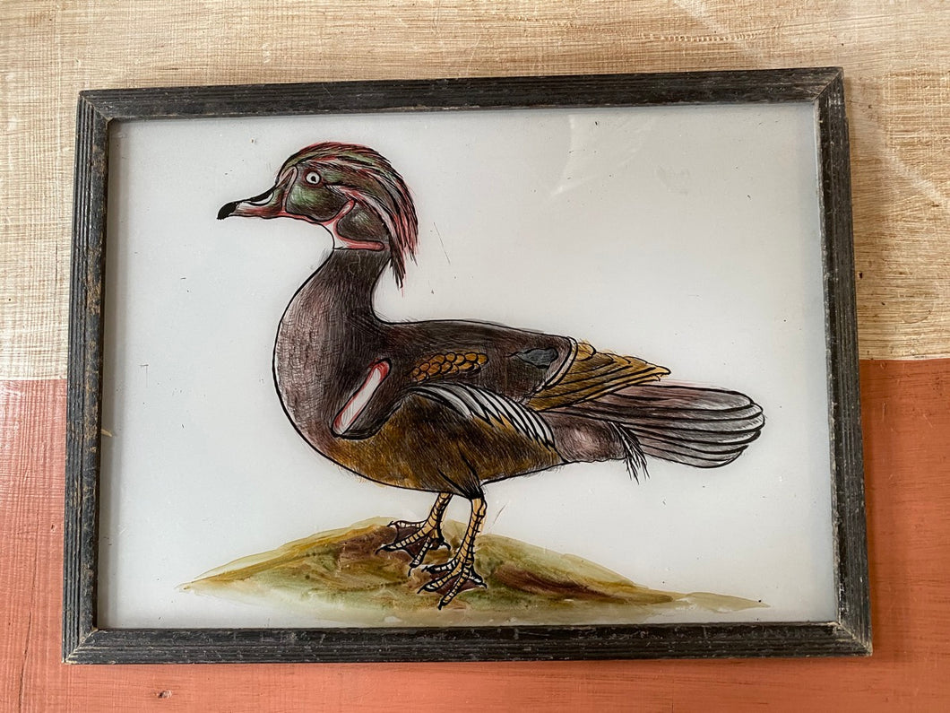Duck Large Glass Painting