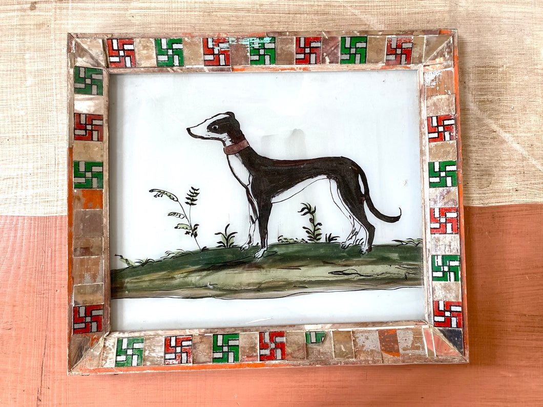 Dog Large Glass Painting