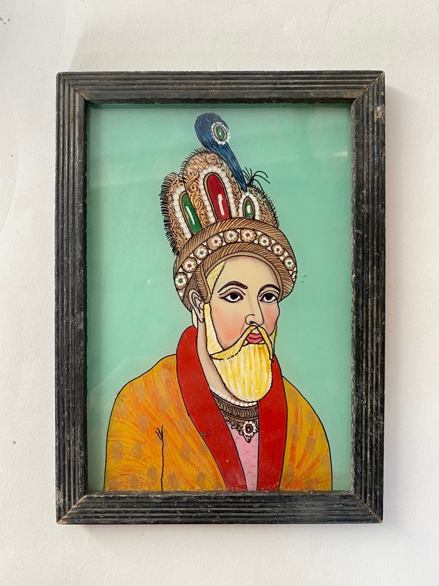 Indian Faces Glass Painting