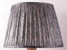 Load image into Gallery viewer, Lilac and Grey Silk Lampshade