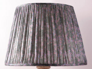 Lilac and Grey Silk Lampshade