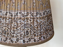 Load image into Gallery viewer, Mushroom and pale blue paisley silk lampshade