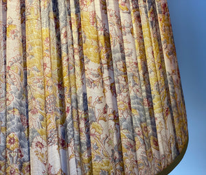 Blue and yellow paisley silk lampshade