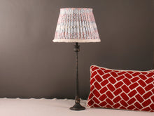 Load image into Gallery viewer, Blue, Red and White Cotton Lampshade