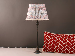 Blue, Red and White Cotton Lampshade