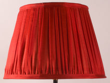 Load image into Gallery viewer, Vermillion Silk Lampshade
