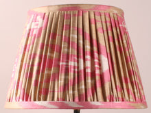 Load image into Gallery viewer, Pink and Cream Silk Ikat Lampshade
