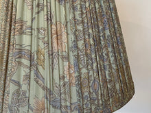 Load image into Gallery viewer, Pale aqua floral paisley with pallu silk lampshade