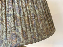 Load image into Gallery viewer, Pale aqua floral paisley silk lampshade