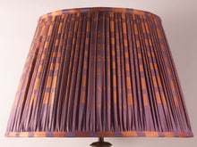 Load image into Gallery viewer, Violet and Orange Silk Lampshade