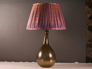 Violet and Orange Silk Lampshade