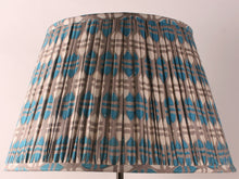 Load image into Gallery viewer, Blue and Grey Acorn Cotton Lampshade
