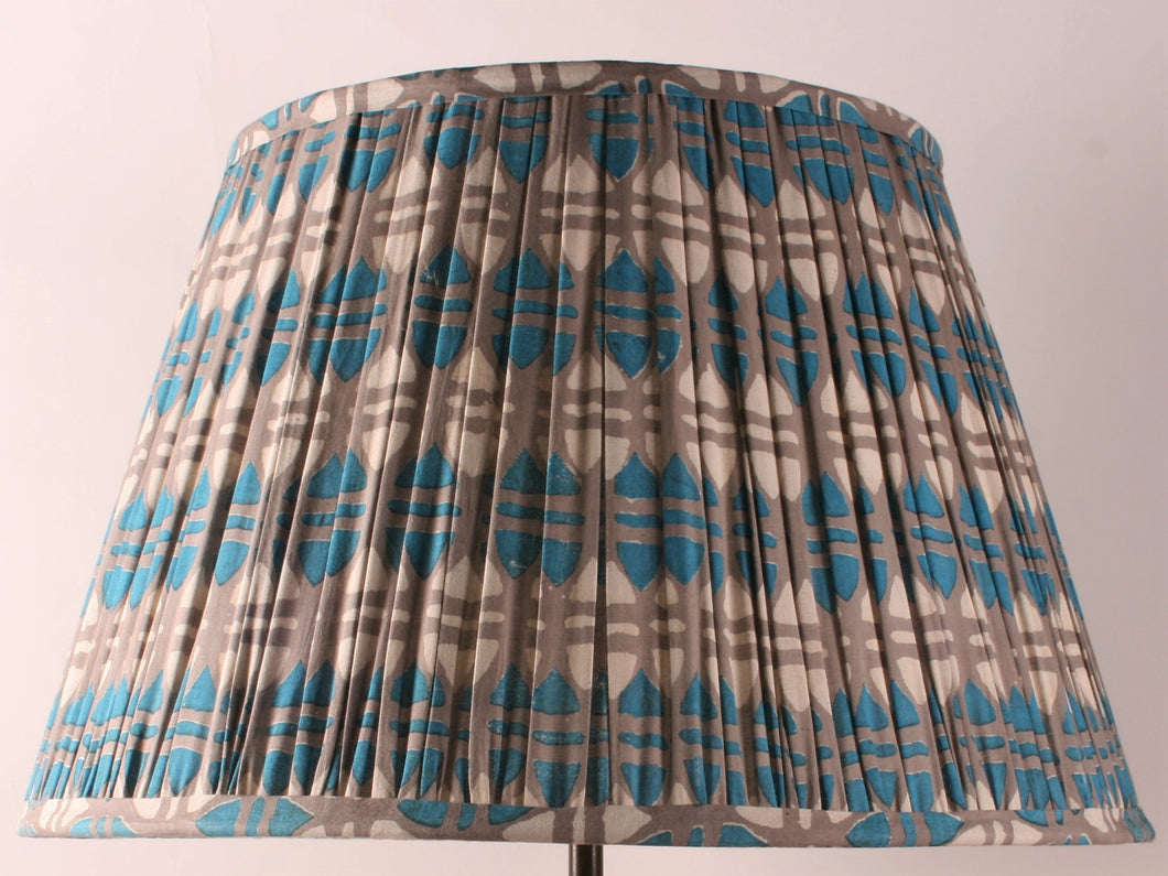 Blue and Grey Acorn Cotton Lampshade