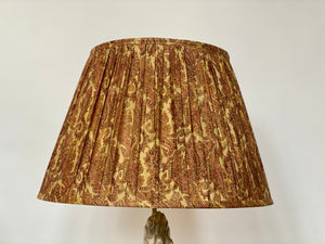 Pale Gold and pink paisley with pallu silk lampshade